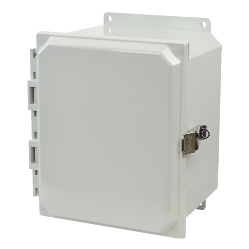 AMP1086LF | 10 x 8 x 6  Junction Box (Stainless Steel Lockable Snap Latch Hinged Cover)