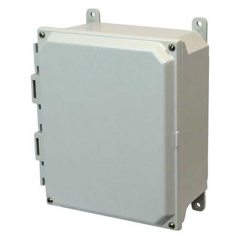 PJU1084 | Hammond Manufacturing 10 x 8 x 4 Fiberglass enclosure with 4-screw lift-off cover