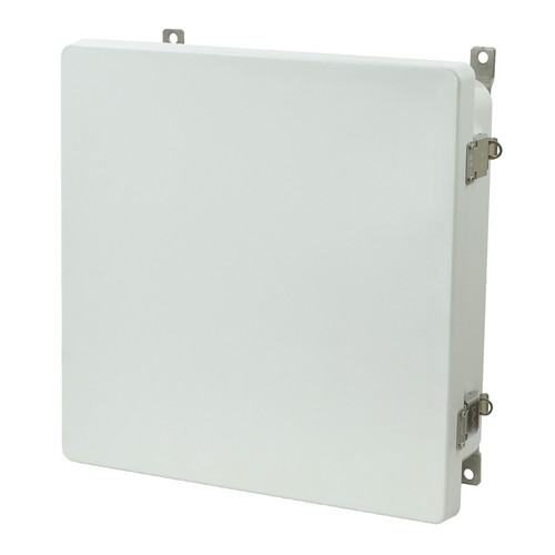 AM1224L | 12 x 12 x 4 Metal Snap Latch Hinged Cover Enclosure
