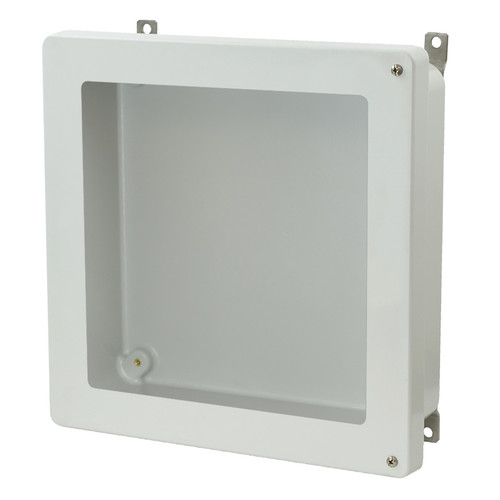 AM1224HW - Hinged 2-Screw Window Cover Enclosure