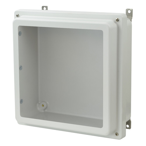 AM1224RW - Lift-Off 4-Screw Raised Window Cover Enclosure
