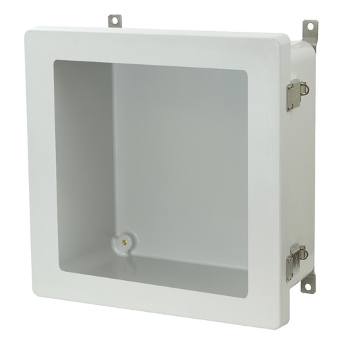 AM1226LW - Metal Snap Latch Hinged Window Cover Enclosure