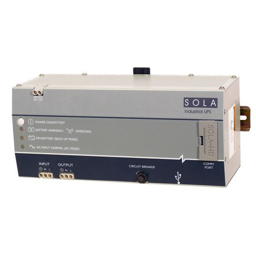 SolaHD - SDU500A - Uninterruptible Power Supply (UPS) - SDU AC-A Series - DIN Rail, 120 VAC, 50/60 Hz, 500VA/300W
