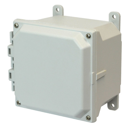 AMU664 | 6 x 6 x 4 Allied Moulded Fiberglass enclosure with 4-screw lift-off cover