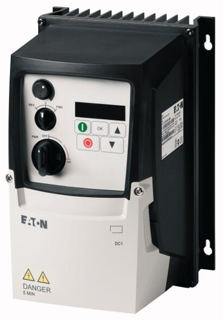 DC1-1D2D3NN-A66CE1 | Eaton AC Variable Frequency Drive (0.5 HP, 2.3 A)