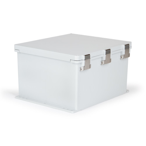 UPCG181610HMLF | Ensto 18 x 16 x 10 Polycarbonate enclosure with hinged cover and snap latch