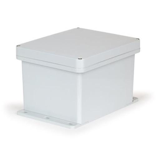 UPCG181610F |Ensto 18 x 16 x 10 Polyarbonate Enclosure with 4-Screw Lift-Off Cover