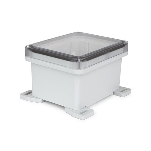UPCT080604 | Ensto 8 x 6 x 4 Polycarbonate Enclosure with 4-Screw Lift-Off Cover