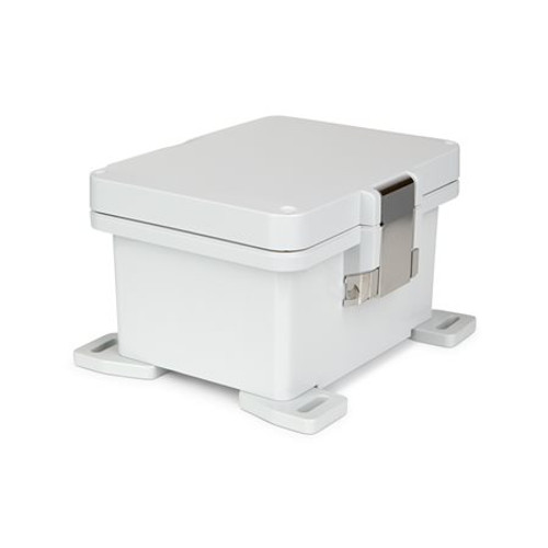 UPCG080604HML | Ensto 8 x 6 x 4 Polycarbonate Enclosure with Hinged Cover and Metal Snap Latch