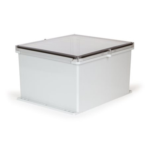 UPCT181610F | Ensto 18 x 16 x 10 Polycarbonate Enclosure with 4-Screw Lift-Off Cover