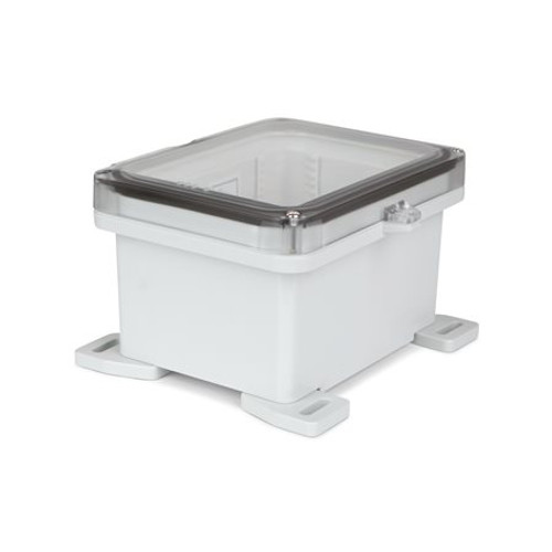 UPCT080604HS | Ensto 8 x 6 x 4 Polycarbonate Enclosure with 2-Screw Hinged Cover