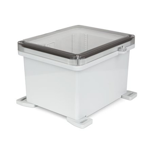 UPCT100806HS | Ensto 10 x 8 x 6 Polycarbonate Enclosure with 2-Screw Hinged Cover
