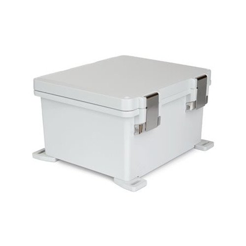 UPCG121006HML | Ensto 12 x 10 x 6 Polycarbonate Enclosure with Hinged Cover and Metal Snap Latch