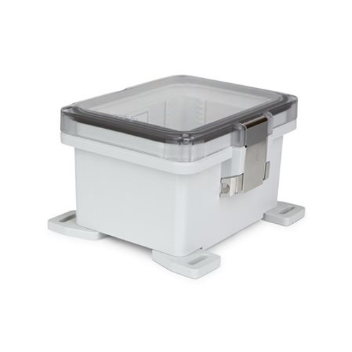 UPCT080604HML | Ensto 8 x 6 x 4 Polycarbonate Enclosure with Hinged Cover and Metal Snap Latch