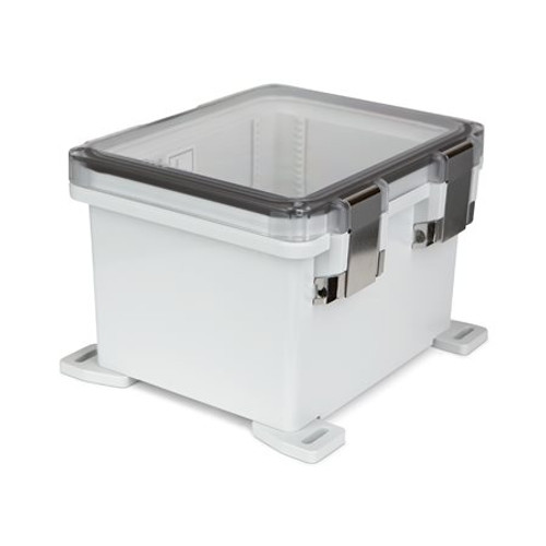 UPCT100806HML | Ensto 10 x 8 x 6 Polycarbonate Enclosure with Hinged Cover and Metal Snap Latch
