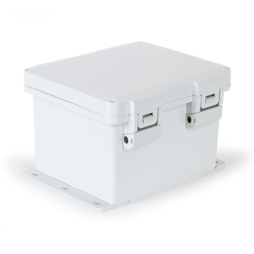 UPCG100806HNLF | Ensto 10 x 8 x 6 Polycarbonate enclosure with hinged cover and nonmetal snap latch
