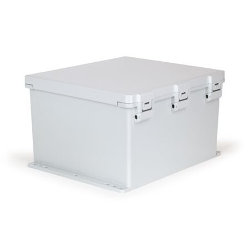 UPCG181610HNLF | Ensto 18 x 16 x 10 Polycarbonate enclosure with hinged cover and nonmetal snap latch