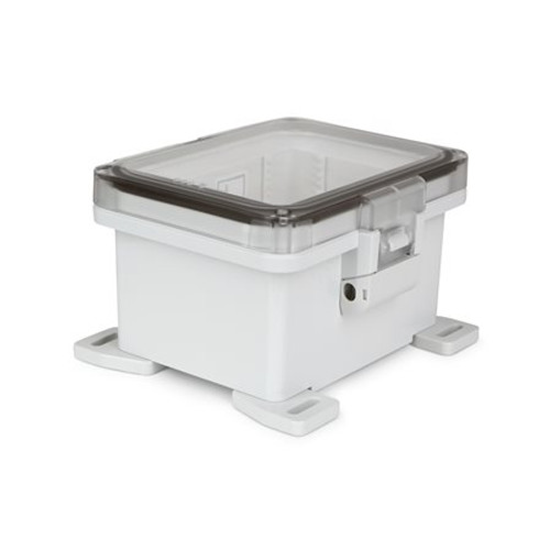 UPCT080604HNL | Ensto 8 x 6 x 4 Polycarbonate enclosure with hinged clear cover and nonmetal snap latch