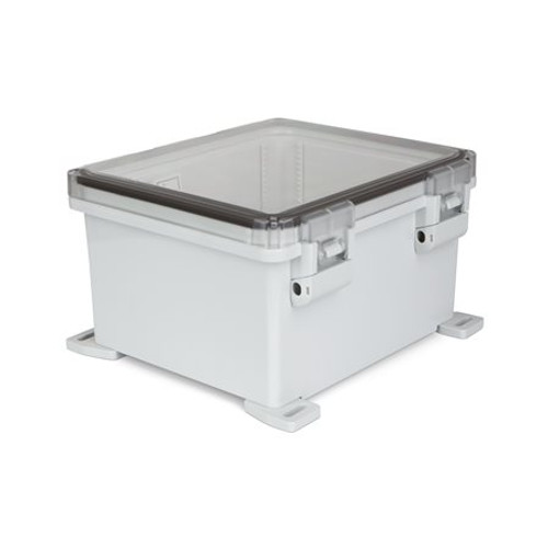 UPCT121006HNL | Ensto 12 x 10 x 6 Polycarbonate Enclosure with Hinged Cover and Nonmetal Snap Latch