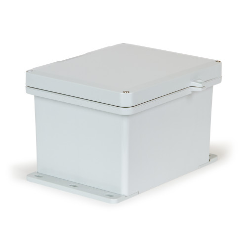 UPCG100806HSF   Ensto 10 x 8 x 6 Polycarbonate enclosure with 2-screw hinged cover