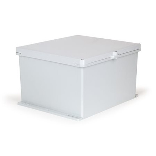UPCG181610HSF | Ensto 18 x 16 x 10 Polycarbonate Enclosure with 3-Screw Hinged Cover