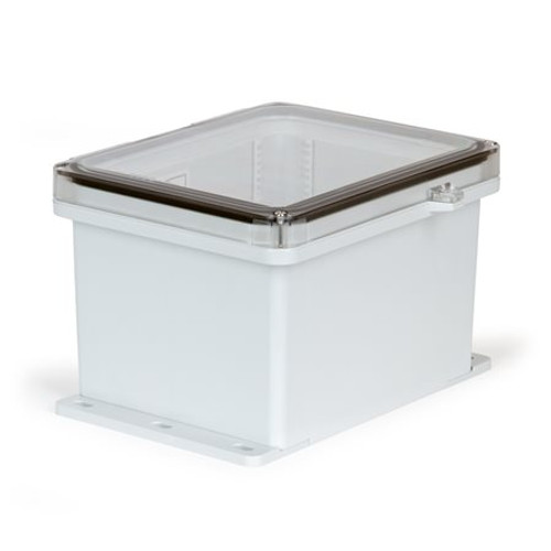 UPCT100806HSF | Ensto 10 x 8 x 6 Polycarbonate Enclosure with 2-Screw Hinged Cover