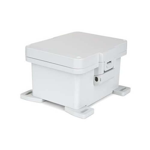 UPCG080604HNL | Ensto 8 x 6 x 4 Polycarbonate Enclosure with Nonmetal Snap Latch Hinged Cover