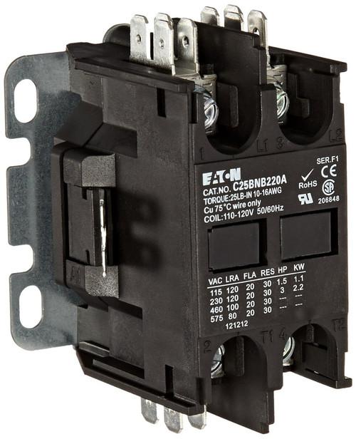 C25BNB220T | EATON Definite Purpose Contactor (20A