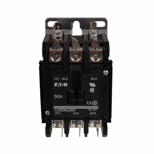 C25DNJ250RC | Eaton Definite Purpose Contactor (50 Amps, 12V AC)