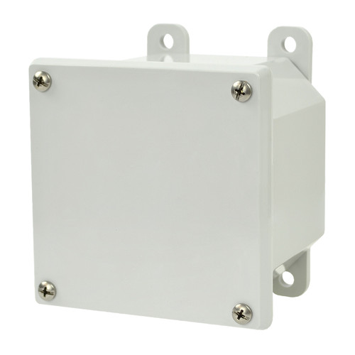 AMP443 | 4 x 4 x 3 Polycarbonate enclosure with 4-screw lift-off cover