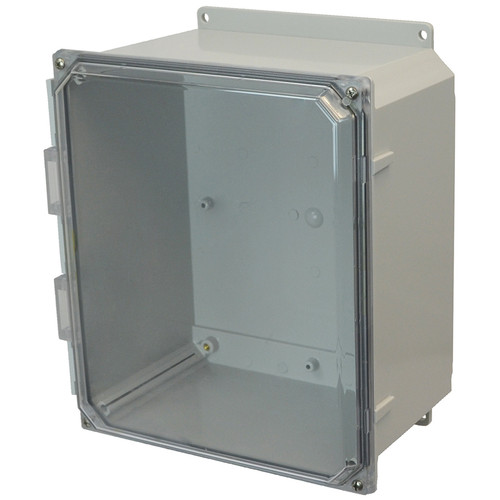 AMP1226CCF | Allied Moulded Products 12 x 12 x 6 Polycarbonate enclosure with 4-screw lift-off clear cover