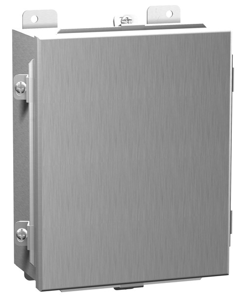 1414N4ALA | Hammond Manufacturing 4 x 4 x 3 Aluminum enclosure with lift-off cover and clamps