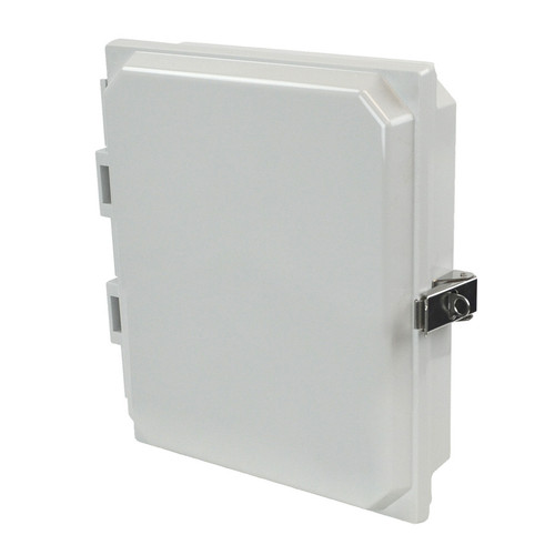 PJHMI108L | Hammond Manufacturing 10 x 8 x 1 HMI Cover Kit with hinged cover and snap latch