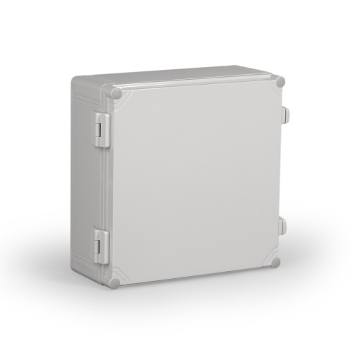 WPCP303013G.U   Ensto 11.81 x 11.81 x 5.20 Polycarbonate enclosure with hinged cover and nonmetal snap latch