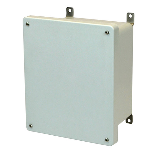 AM864 | 8 x 6 x 4 Allied Moulded Fiberglass enclosure with 4-screw lift-off cover