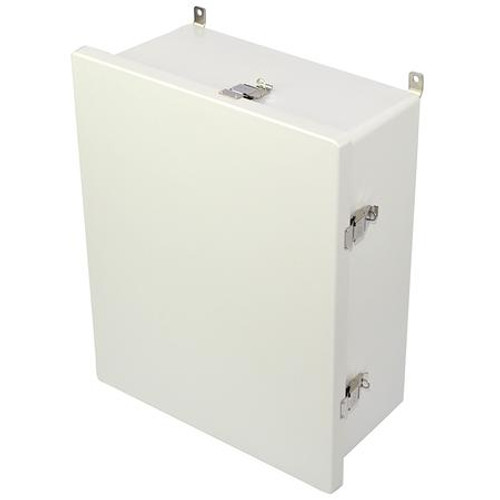 AM2068L | 20 x 16 x 8 Fiberglass enclosure with hinged cover and snap latch