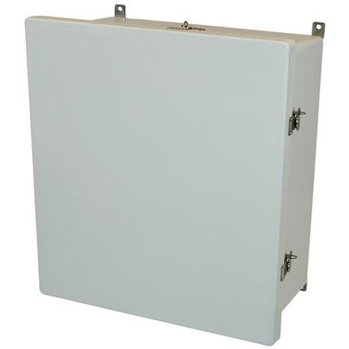 AM1868T |18 x 16 x 8 Fiberglass enclosure with hinged cover and twist latch