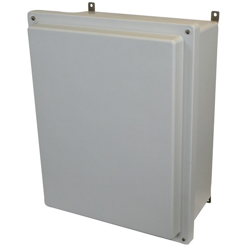 AM2068R | 20 x 16 x 8 Fiberglass enclosure with raised 4-screw lift-off cover