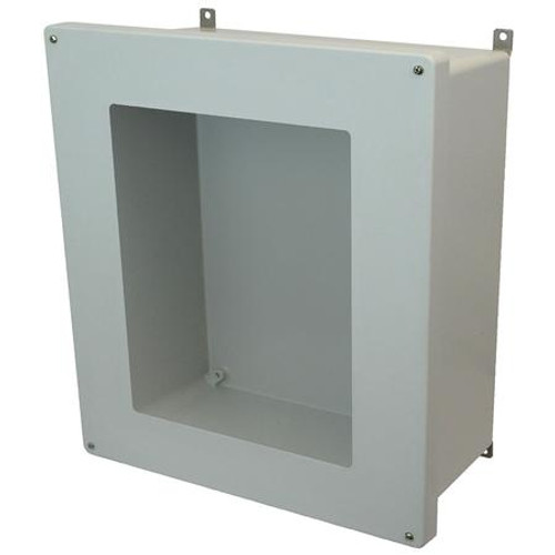 AM1868W | 18 x 16 x 8 Fiberglass enclosure with 4-screw lift-off window cover