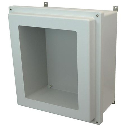 AM1868RW | 18 x 16 x 8 Fiberglass enclosure with raised 4-screw lift-off window cover