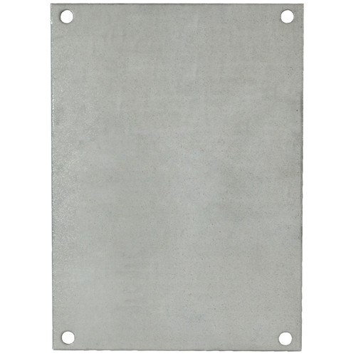 PG86 | Allied Moulded Products 8 x 6 Galvannealed steel back panel for use with fiberglass enclosures