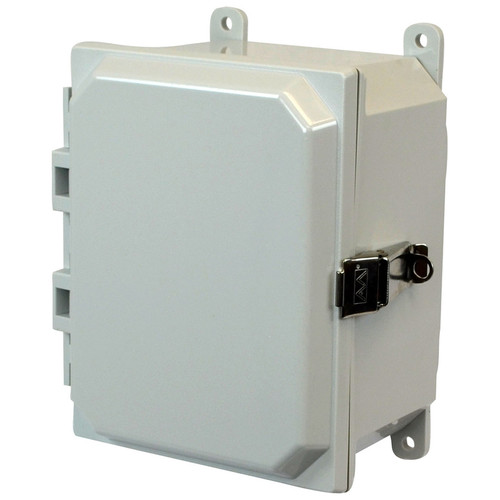 AMP864L | 8 x 6 x 4 Junction Box (SS Lockable Snap Latch Hinged Cover)