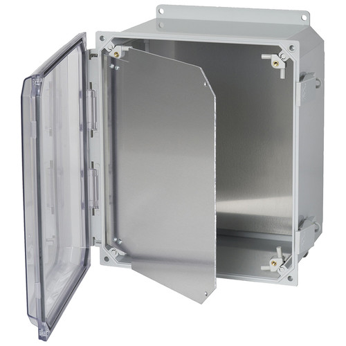 HFPP86 | Allied Moulded Products Hinged front panel kit for use with 8in x 6in enclosures