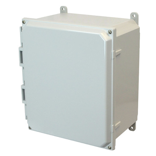 AMP1206 | Allied Moulded Products 12 x 10 x 6 Polycarbonate enclosure with 4-screw lift-off cover