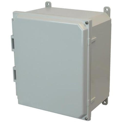 AMP1206H | Allied Moulded Products 12 x 10 x 6 Polycarbonate enclosure with 2-screw hinged cover