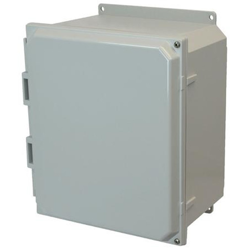 AMP1206HF | Allied Moulded Products 12 x 10 x 6 Polycarbonate enclosure with 2-screw hinged cover