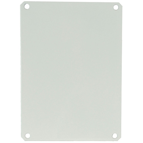 PL120 | Allied Moulded Products White Carbon Steel Back Panel (For 12 x 10 Enclosures)