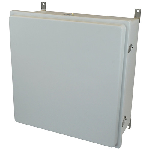 AM24240RL | Allied Moulded Products 24 x 24 x 10 Raised Metal Snap Latch Hinged Cover