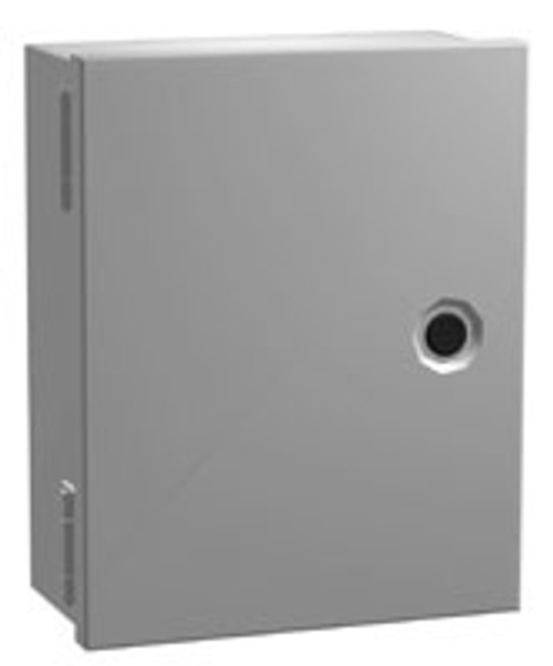 N1J12126 | 12 x 12 x 6 Steel Enclosure with Hinge Door and Quarter Turn