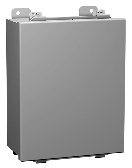 1414A | 4 x 4 x 3 Steel Enclosure with Lift-Off Cover and Clamps